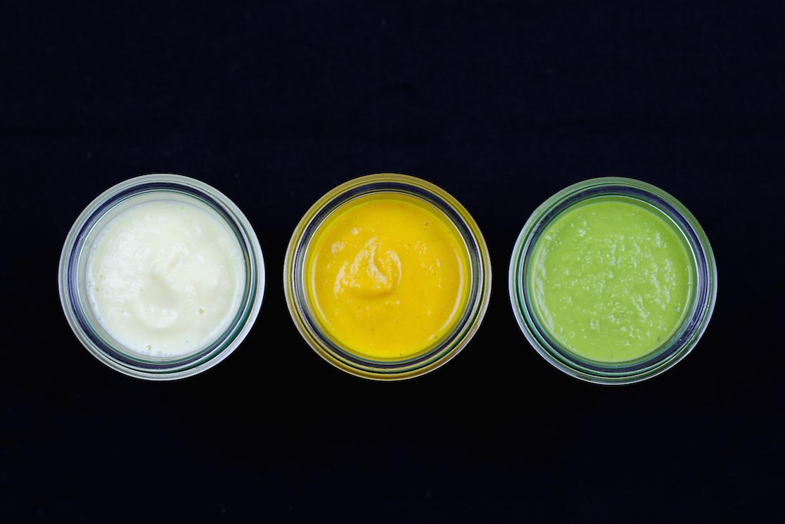 Kochen nach Farben: Farbiges Suppen Trio