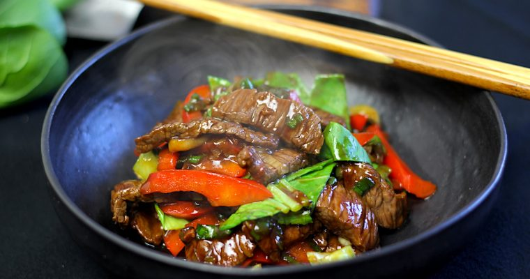 Pak Choi Beef Teriyaki, gekocht in unter 10 Minuten