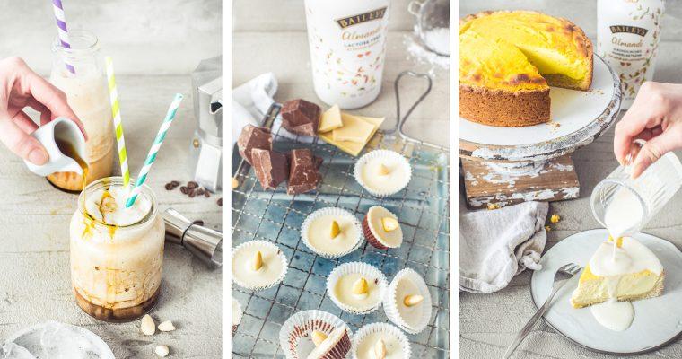 Drei unverschämt leckere vegane Desserts und Sweets mit Baileys Almande